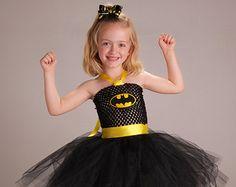 Inspired by Batman Super Hero Tutu Dress by TieDyedFairyTales