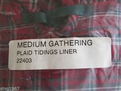 Ebay$19.60 Longaberger-Basket-Liner-Medium-gathering-Plaid-Tidings-fabric-22403-Christmas