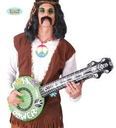 Hippie Power Inflatable Banjo - Relive the Summer of Love and flower power with this cute banjo for flower power people and hippies 1960s Party, Retro Party, Banjo, Marvel Dc, Westerns, Hippie Party, Adult Fancy Dress, Fancy Dress Accessories, Joko