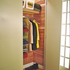 This Old House | Add cedar planking to a closet for an easy update.