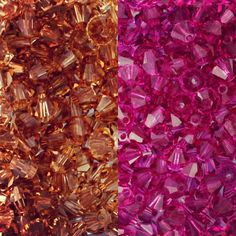 Peanut butter & jelly colored Austrian Crystals for National PB&J Day! Will you be eating a PB&J sandwich for lunch? #pbj #austriancrystal #sadiegreens