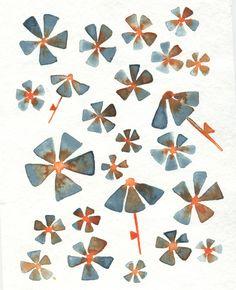 Jelena Matriszenka #watercolor #watercolorillustration #illustration #watercolorart #art #akwarele #creature #cute #flowers #spring #kartforkids