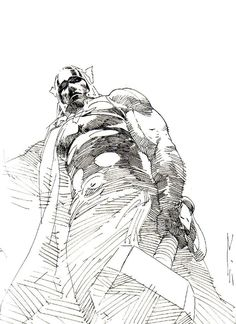 esad ribic sketch...one of the best comic artist!!