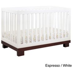 Babyletto Modo 3-in-1 Convertible Crib with Toddler Rail ($299) ❤ liked on Polyvore featuring home, children's room, children's furniture and nursery furniture