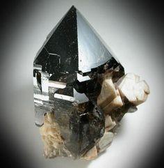 Smokey Quartz w/ Hyalite Opal