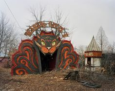 Amazing Defunct and Abandoned Roadside Attractions in Decay | Stuff You Should Know  Scaredy Cat Club Spook House  Detroit Mi
