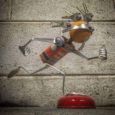 https://flic.kr/p/FgdKzV | Found object robot assemblage sculpture by Brian Marshall.