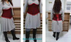 Três projetos de corselets finalizados.