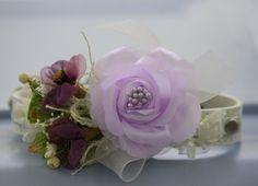 Purple Wedding Dog collar, pet Wedding accessory, Purple wedding, Floral dog collar, leather collar