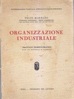 ORGANIZZAZIONE INDUSTRIALE di Pelio Marrani 1931 Tipografia del Littorio