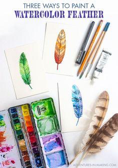 Three ways To Paint A Feather