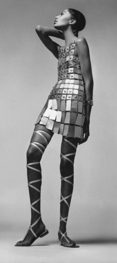 Donyale Luna dress by Paco Rabanne 1966