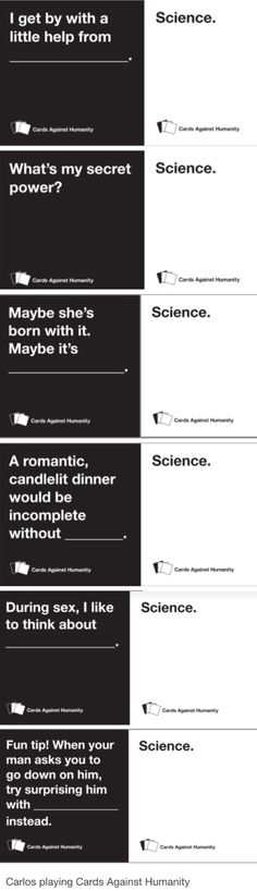 Welcome to Night Vale Carlos the scientist + Cards Against Humanity Tumblr post