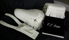 had to cut fringe by hand . could not find it in brilliant white to match seat set. Bike Seat, Moccasins, Flats, Leather, Shoes, Fashion, Penny Loafers, Loafers & Slip Ons, Moda