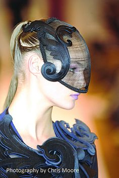 Modernist label used lasercut neoprene in millinery