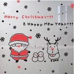 Merry Christmas Happy New Year Wall Sticker by wallstickerdeal