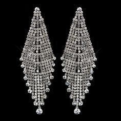 Stunning & Glamorous Antique Silver Clear by MoonlitBridals, $69.99 Chandelier Earrings, Women's Earrings, Bridal Jewelry Sets, Unique Jewelry, Necklace Set, Earring Set, Antique Silver, Swarovski Crystals, Dangles
