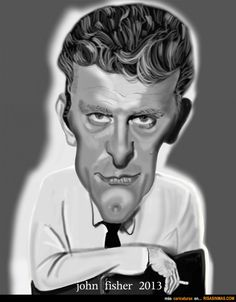 Caricatura de Kirk Douglas.