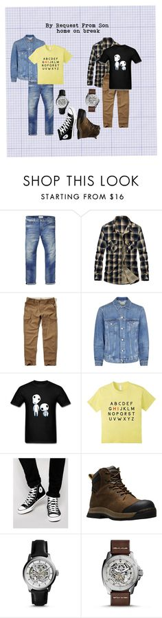 """""""By Son's Request...."""" by sandjpopescu ❤ liked on Polyvore featuring Scotch & Soda, Hollister Co., Acne Studios, Converse, Dr. Martens, FOSSIL, men's fashion and menswear"""