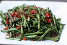 Sauteed Green Beans with Soy and Garlic