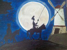 Yo aveces quiero la imaginacion del quijote..... Pi Pintura en oleo
