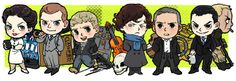 I love how everyone's kind of agreed that Sebastian Moran exists, and even about his personality and looks, to a certain extent, without his ever having appeared on the show. Sherlock Kiss, Sherlock Cartoon, Sherlock Drawing, Sherlock Bbc, Sebastian Moran, Chibi, Adventures Of Sherlock Holmes, Vatican Cameos, Nerd Love