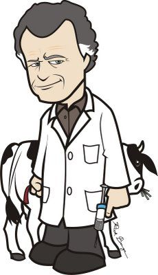 #Fringe Toon - Walter Bishop and Gene (What's funny is that I was thinking he needed his licorice...then I looked down and saw it in his hand.  Awesome.)