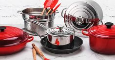 Win 1 of 3 Le Creuset's Ultimate Kitchen Set Hampers Kitchen Sets, Le Creuset, Giveaway, Tableware, Hampers, House Ideas, Health, Fitness, Cooking Utensils