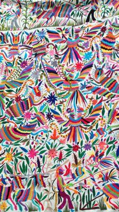 Oaxaca's Governer's Palace, Textile Exhibit, Otami Embroidery. Holidays, 2013.  Photo. W. Scott Koenig, #agringoinmexico.com