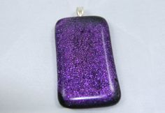 Purple Dichroic Glass Pendant by LilysBeads on Etsy