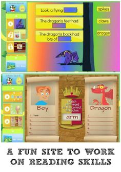 A fun site to work on reading skills. This worked for my kids!