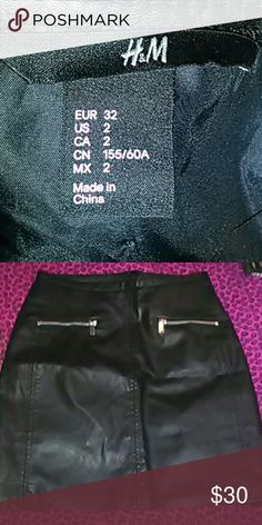 H&M black leather skirt Brand-new H&M Skirts Maxi