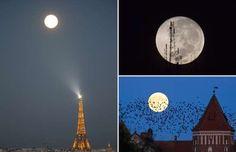 Superluna - CHARLES PLATIAU/REUTERS/Reuters; Dieu Nalio Chery/ASSOCIATED PRESS/AP Images; Sergei Grits/ASSOCIATE...