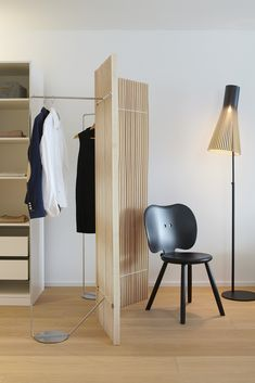 Paravent Plus by Swiss Designer Trio Atelier Oï can be used as a room divider as well as a coat rack Designer, Folding Screens, Divider, Wall Lights, Room, Walls, Inspiration, Home Decor, Privacy Screens
