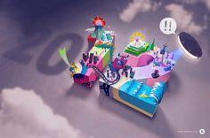 웹스토리 보이 :: [이미지] 종이접기의 달인들이 모여서 만든 엄청난 작품들