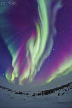 The Northern Lights in Churchill, Manitoba, Canada.