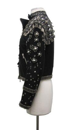 Punk Inspired Moschino Safety Pin Jacket