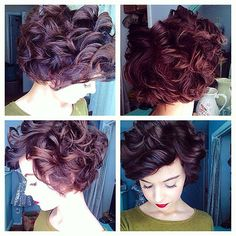 Short curly haircuts make sophisticated and stylish look to women's appearance. In this article you will find 20 New Short Curly Hair Styles that we chose for. Curly Pixie Cuts, Short Curly Haircuts, Hairstyles Haircuts, Pretty Hairstyles, Short Hair Cuts, Curly Short, Layered Hairstyles, Hairstyle Ideas, Curly Bob