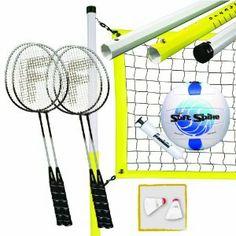 Franklin Sports Advanced Badminton/Volleyball Set