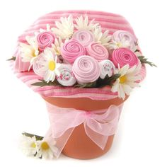Have to have it. Nikki's Pink Baby Blossom Clothing Gift Bouquet $54.99