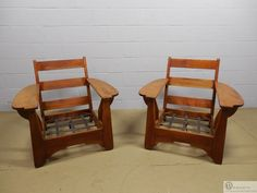 Ordinaire Pair Cushman Colonial Club Chairs With Paddle Arms