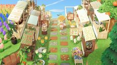 """""""meadow just opened up its very own little farmer's market ✨🌿 Animal Crossing Guide, Animal Crossing Qr Codes Clothes, Animal Crossing Pocket Camp, First Humans, Animal Games, My New Room, All About Animals, Landscape Pictures, Custom Design"""