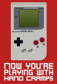Gameboy Vector - Playing with Hand Cramps by ~tjhiphop on deviantART