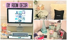 DIY Room Decor ♡Cute + Affordable♡ I like the first diy (flower decoration with water bubbles