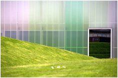 Herzog & DeMeuron - Laban dance center, London 2003, with landscaping by Vogt Landschaftsarchitekten