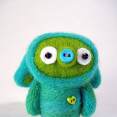 Such a sweet monster needle felting