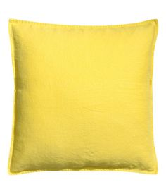 Accent Decorative Throw Pillow Cover Linen Throw Pillow Cover Cushion 20 x (Yellow)