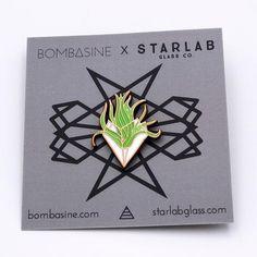 Airplant Enamel Lapel Pin at Bombasine & Starlab Glass