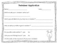 reindeer application | Santa's Reindeer Application Freebie - Amanda Pauley ...