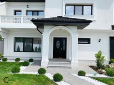 Proiect Casa Rezidentiala Galati – Profile Decorative House Front Design, House Entrance, Walkway, Home Fashion, Home Goods, Mansions, House Styles, Interior, Outdoor Decor